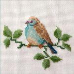 Mollink Blue Waxbill cross stitch kit