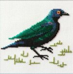 Mollink Cape Glossy Starling cross stitch kit