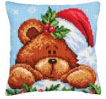 Christmas with Teddy Tapestry Cushion Kit