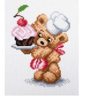 Confectioner - printed aida cross stitch