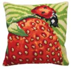 Delicious Strawberry Tapestry Cushion Kit