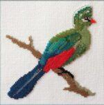 Mollink Knysna Lourie cross stitch kit