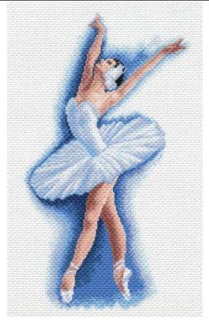 Odetta ballet dancer - printed aida cross stitch