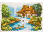 Cross Stitch Kit Printed Aida
