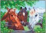 Ranch Horses Cross Stitch