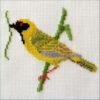 Mollink Southern Masked Weaver cross stitchkit