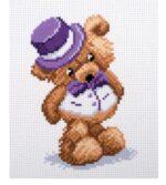 Teddy boy - printed aida