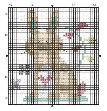 Childrens cross stitch patterns, woodland pals